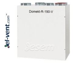 Rotary heat and energy recovery unit Domekt-R-190-V, 183 m³/h