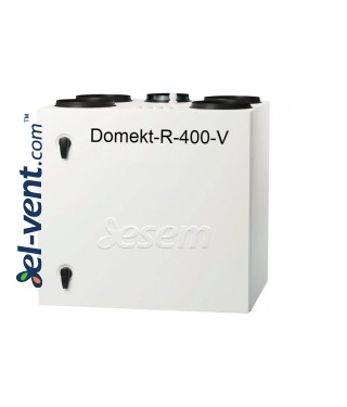 Rotacinis rekuperatorius Domekt-R-400-V, 381 m³/h