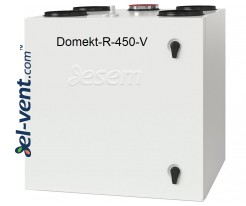Rotary heat and energy recovery unit Domekt-R-450-V, 490 m³/h