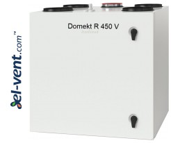Rotary heat and energy recovery unit Domekt-R-450-V, 472 m³/h