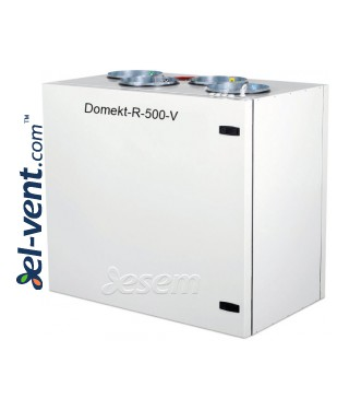 Rotary heat and energy recovery unit Domekt-R-500-V, 630 m³/h