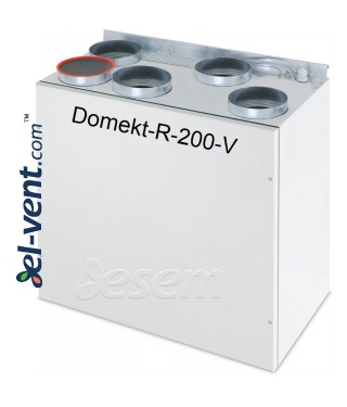 Rotary heat and energy recovery unit Domekt-R-200-V, 258 m³/h