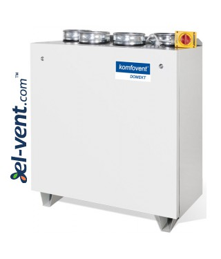 Heat and energy recovery unit with counterflow plate heat exchanger Domekt-CF-700-V, 637 m³/h