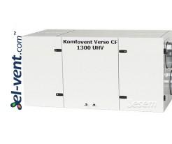 Приточно-вытяжная установка с противоточным теплообменником Verso-CF-1300-U-H-V, 1340 м³/ч