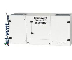 Приточно-вытяжная установка с противоточным теплообменником Verso-CF-3500-U-H-V, 3540 м³/ч