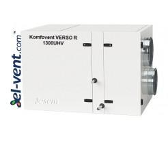 Rotacinis rekuperatorius Verso-R-1300-U-H-V, 1380 m³/h