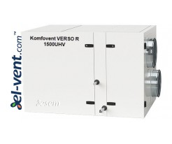 Rotary heat and energy recovery unit Verso-R-1500-U-H-V, 1530 m³/h