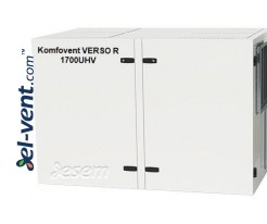 Rotary heat and energy recovery unit Verso-R-1700-U-H-V, 1780 m³/h