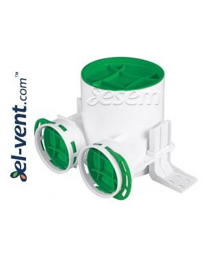 Присоединительная коробка для диффузора Антибактериальная коробка для диффузора ANTI-B-VPB125-2x75