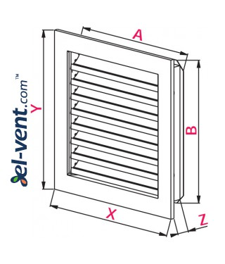 Outdoor vent covers galvanized Line MP - drawing