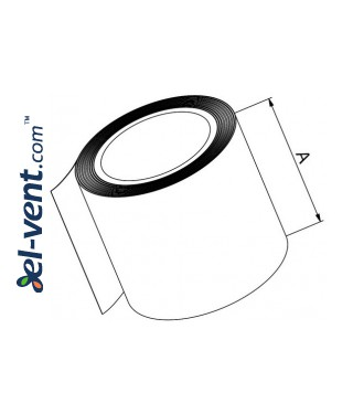 Adhesive PVC tape for plastic ducts sealing, 5.0 cm x 5 m, TAP - drawing