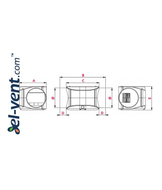 Centrifugal duct fans TURBINA - drawing