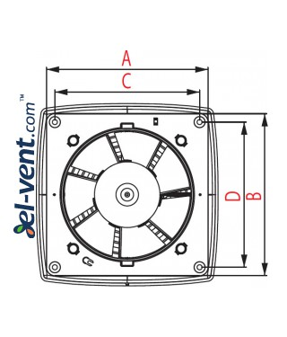 Extract fan with timer RETIS - drawing 2