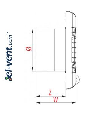 Drawing No.2 A-MATIC100T, Ø100 mm