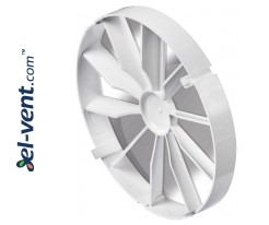 Backdraft damper for bathroom fan ZZ125, Ø125 mm