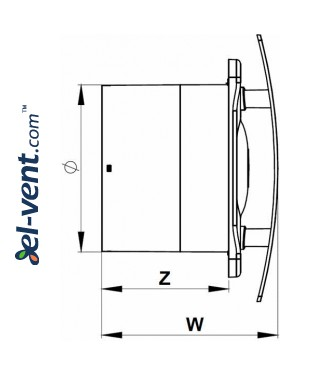 Drawing No.1 ESCUDO125CTR, Ø125 mm