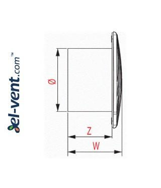 Drawing No.2 EWA100W, Ø100 mm