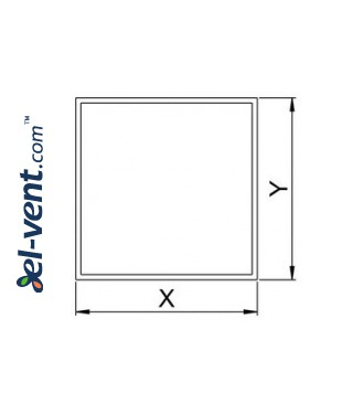 Interior panel for ceramic tile PI100 - INSIDE, drawing No.1