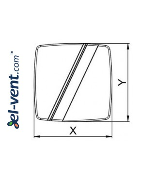 Interior panel PLB100 - LINEA white, drawing No.1