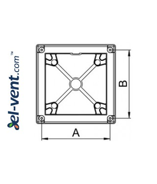 Mounting frame for interior panel RW125 white - drawing 3