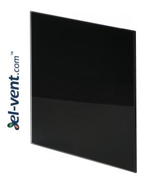 Панель вентилятора PTGB100/125P - черное полированное стекло