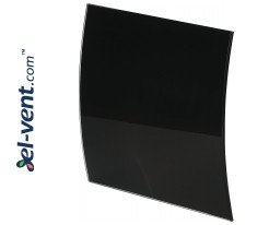 Interior panel PEGB100P - ESCUDO GLASS black glossy