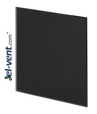 Interjerinis dangtelis PTGB125M - TRAX GLASS black matte