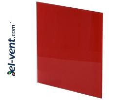 Interjerinis dangtelis PTGR125P - TRAX GLASS red glossy