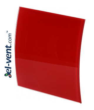 Fan panel PEGR100P - red polished glass