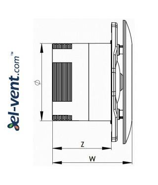 Drawing No.1 ORBIT100V, 12 V Ø100 mm