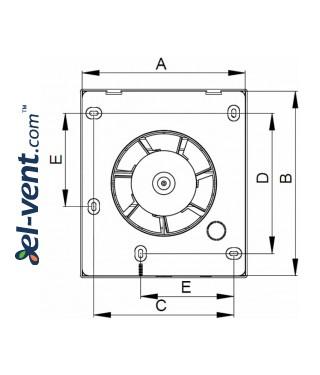 Bathroom fan VECCO100, Ø100 mm - drawing 3