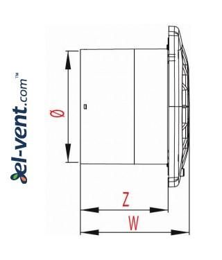 Drawing No.2 VEGA100W, Ø100 mm