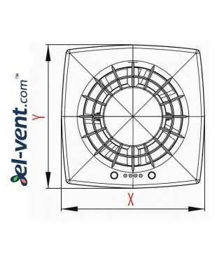 Drawing No.1 VEGA125CTR, Ø125 mm