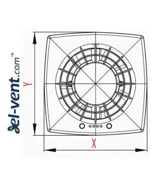 Drawing No.1 VEGA100CTR, Ø100 mm