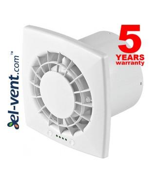 Ypatingai tylus buitinis ventiliatorius su guoliais, greičio reguliatoriumi ir laikmačiu VEGA125CTR, Ø125 mm