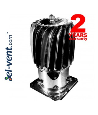 Cylinder rotating chimney cowl  - stainless steel