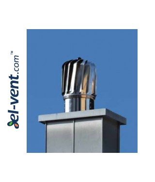 Cylinder rotating chimney cowl NOP150AL, Ø150 mm - installed
