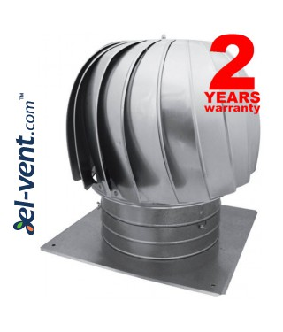 Rotating chimney cowls from stainless steel, with ball bearings TURBO-N