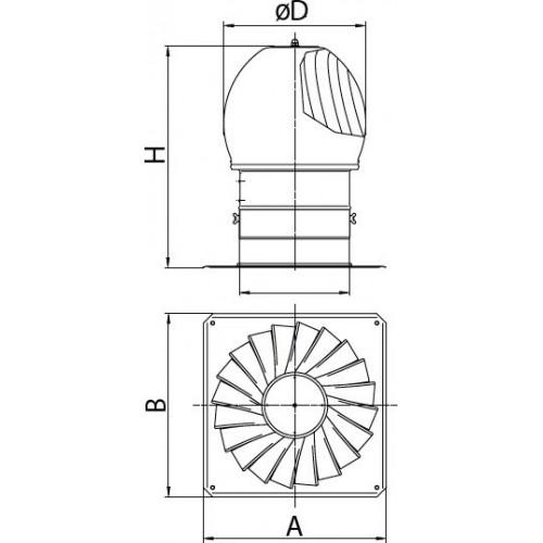 Турбодефлекторов своими руками чертежи 31