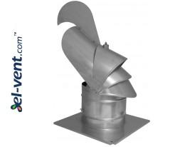 Spinning chimney cowl with ball bearings Dragon KDN200D Ø200 mm