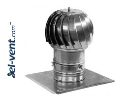 Rotating chimney cowl with ball bearings MINI-TURBO-100, Ø100 mm