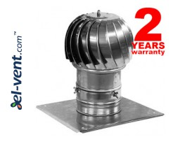 Rotating chimney cowls from stainless steel, with ball bearings MINI-TURBO-N