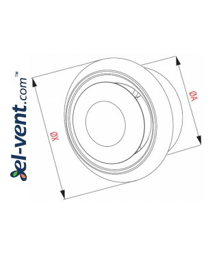 Ceiling diffuser EAN3, Ø150 mm - drawing