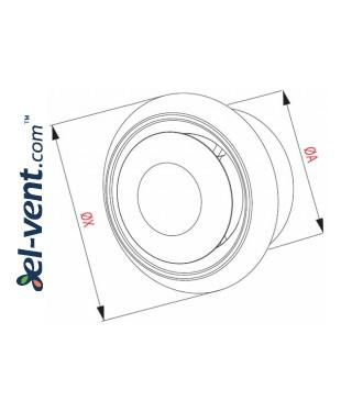 Ceiling diffuser EAN1, Ø100 mm - drawing