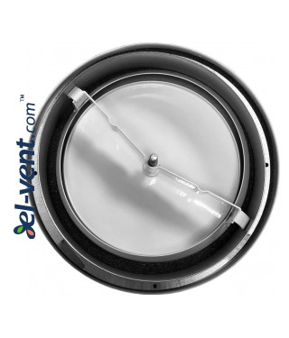 Backside of air supply valve DIN