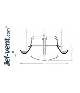 Air diffuser EDI160, Ø160 mm - drawing