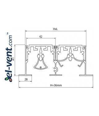 Aluminum linear slotted diffusers PLD - drawing 2