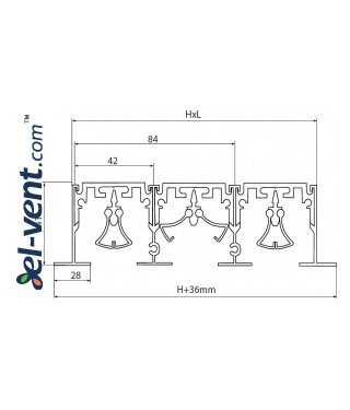 Aluminum linear slotted diffusers PLD - drawing 3
