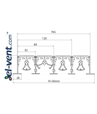 Aluminum linear slotted diffusers PLD - drawing 4