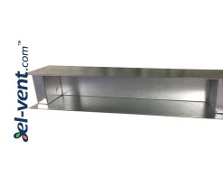 Plenum box for linear slotted diffuser PLDDT2/495
